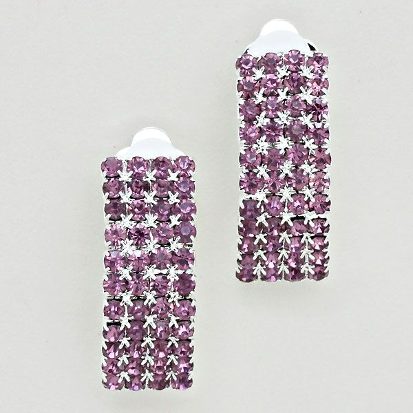 Light amethyst clip on earrings only £6.99 from  WWW.GlitzyGlamour.co.uk (available in other colours)