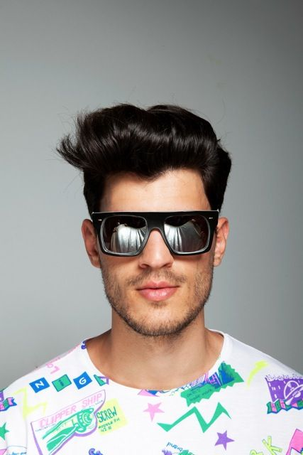 Black /mirror shades, a unique pair of sunglasses of DEEP SHALLOW EXPOSITION x Ozon Boutique!