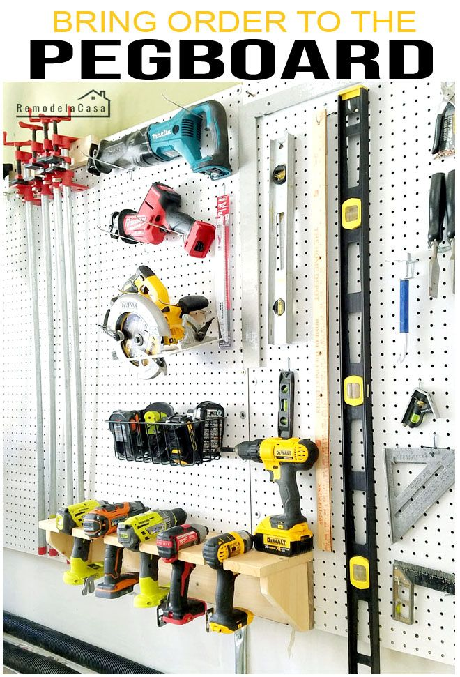 Bring Order to the Pegboard!  – Garage Organization