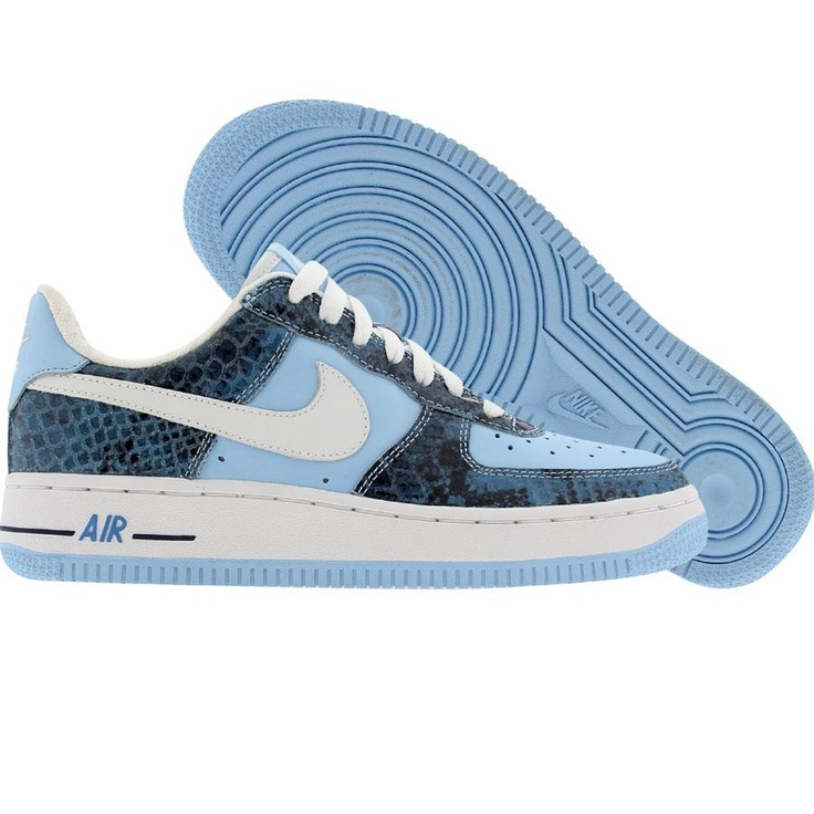 Nike Womens Nike Air Force 1 Low Premium (ice blue / white / midnight navy