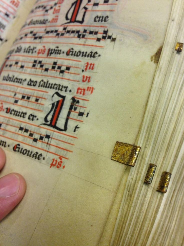 Metal bookmark tab in a noted Psalter (Lat. b. 2) Germany, 15th c.