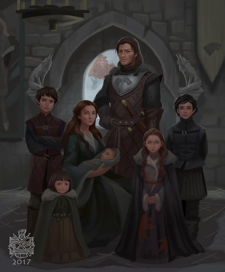 """(@raymondwaskita) on Instagram: """"The Starks circa 291 AC. ( when rickon hasnt even exsisted) 7 years before the event of ASOIAF…"""""""