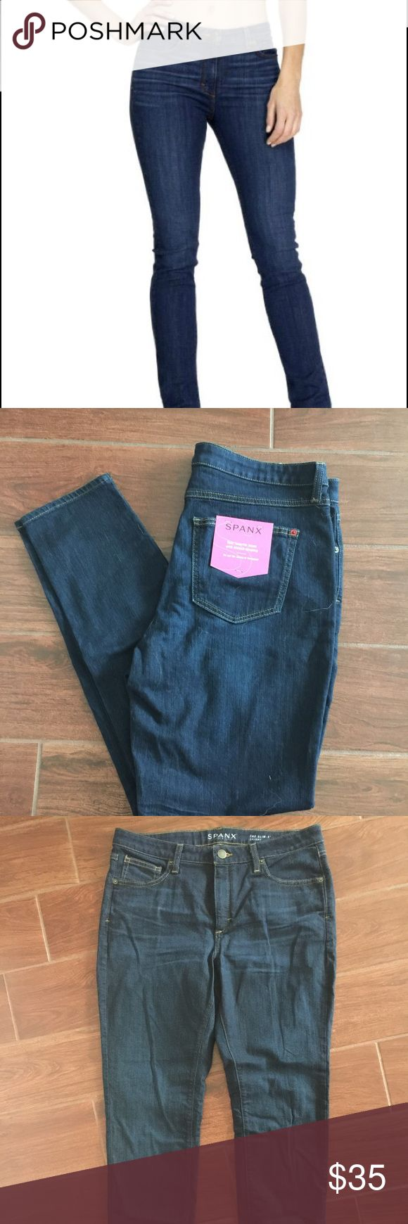 """Spanx """"The Slim-X"""" skinny jean 😍New😍 Mid-rise skinny jean in indigo 31"""" inseam, 93% bomuld,6% polyester, 1% Lycra.  These jeans are made to make the most out of your assets!  These are jeans, not jeggings... SPANX Pants Skinny"""