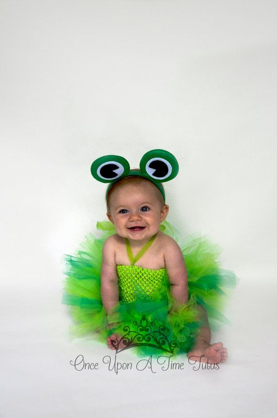 2e8ad58de6fd Frog Tutu Dress - Little Girls Size Newborn 6 12 Months 2T 3T 4T 5T ...