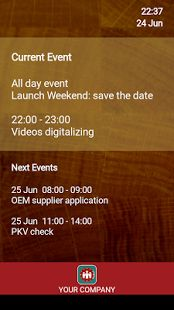Meeting room schedule free - Digital Signage Display