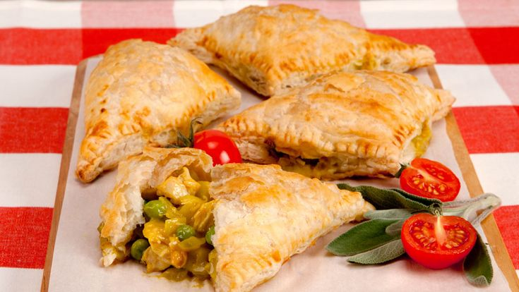 Turkey Turnovers - Recipes - Best Recipes Ever - These puff-pastry turnovers look so professional, guests will think that you went out and bought them.