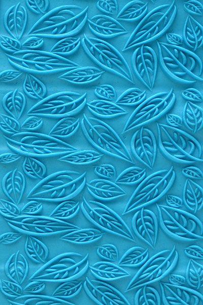 KPcR-014 7.5 cm Acrylic Roller Fall Leaves – Kortools | Tools for Precious Metal Clay