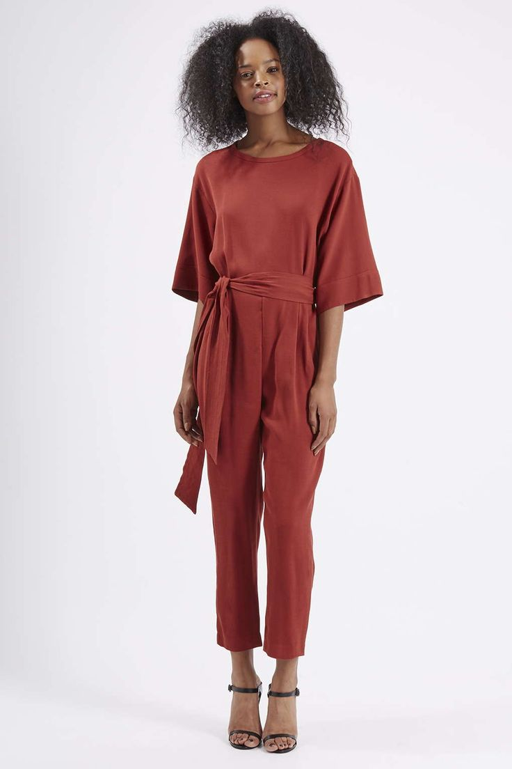 Photo 2 of Belted Tapered Jumpsuit