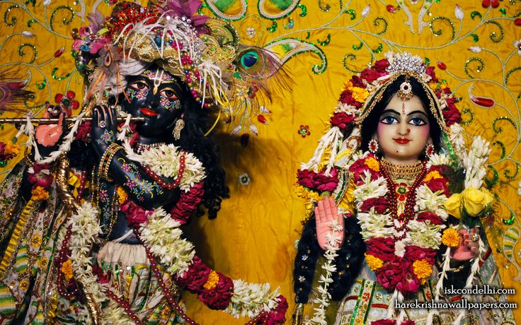 To view Radha Parthasarathi Close Up Wallpaper of ISKCON Dellhi in difference sizes visit - http://harekrishnawallpapers.com/sri-sri-radha-parthasarathi-close-up-iskcon-delhi-wallpaper-010/