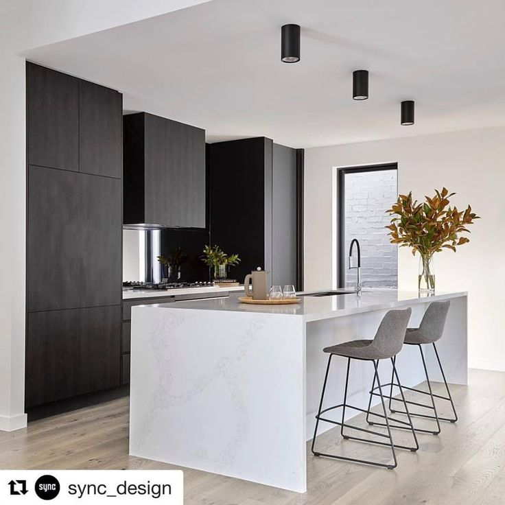 Repost from @sync_design featuring Navurban™ Ravenswood. Kitchen shot with a hidden butlers pantry from our completed Doncaster project. Monochrome love! Designed by @sync_design. Build by @concept_build. Photography by @jack.lovel.