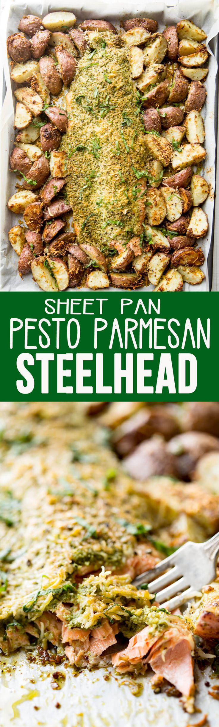 Parmesan Pesto Steelhead & Roasted Potatoes is a fabulous dinner recipe that will stay in the family for years! #ad #relativerace
