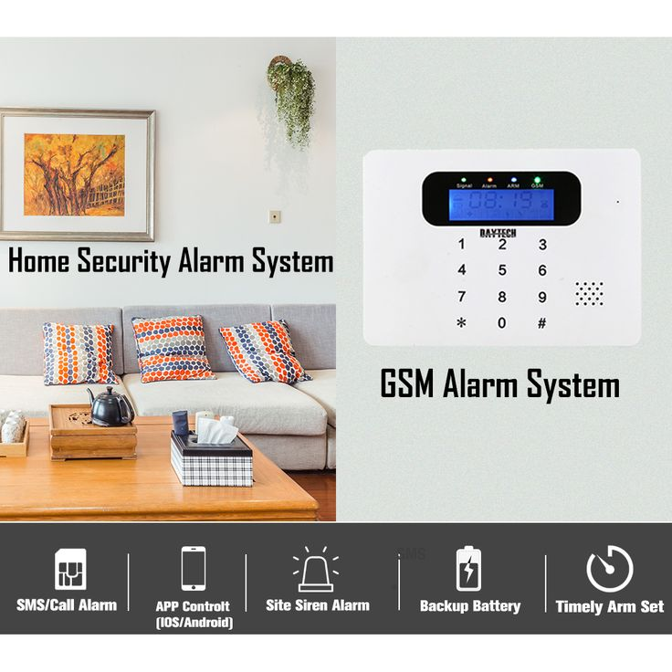Wireless GSM SMS Alarm Home Burglar Security System With Motion Detector Door Intruder Sensor APP Control. Click visit to buy