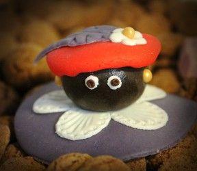 Zwarte Piet van marsepein maken