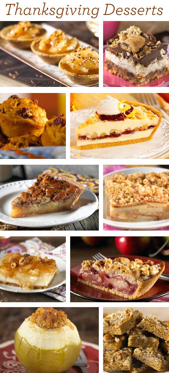 10 Delicious Thanksgiving Desserts to be thankful for! #thanksgiving #dessert
