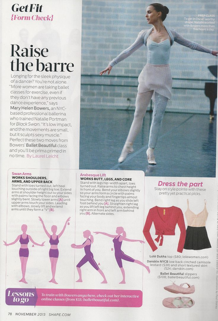 NYC-trained ballet artist Mary Helen Bowers talks about proper form in Shape magazine.   www.brooklynfitchick.com