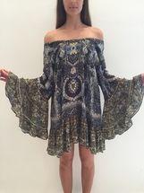 CAMILLA - A-Line Frill Dress - Constantinople