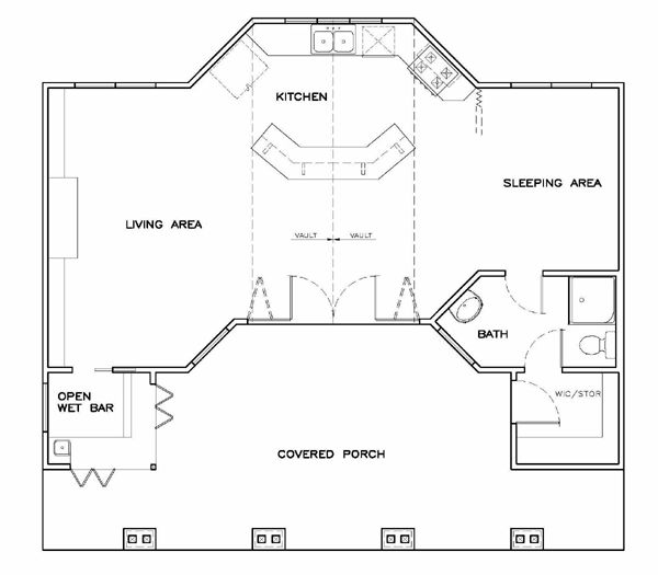 first floor plan of coastal cottage craftsman house plan 57857