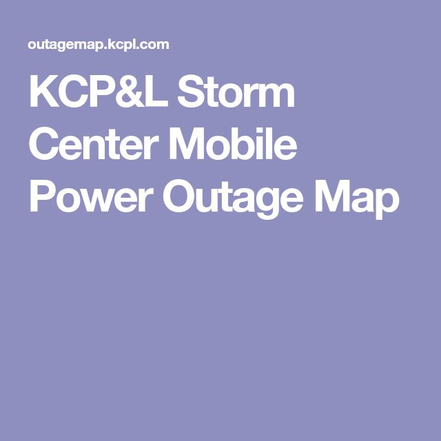 KCP&L Storm Center Mobile Power Outage Map