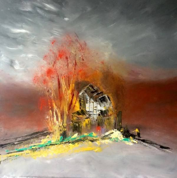 70 x 70 cm acrylic on canvas by Mo Tuncay