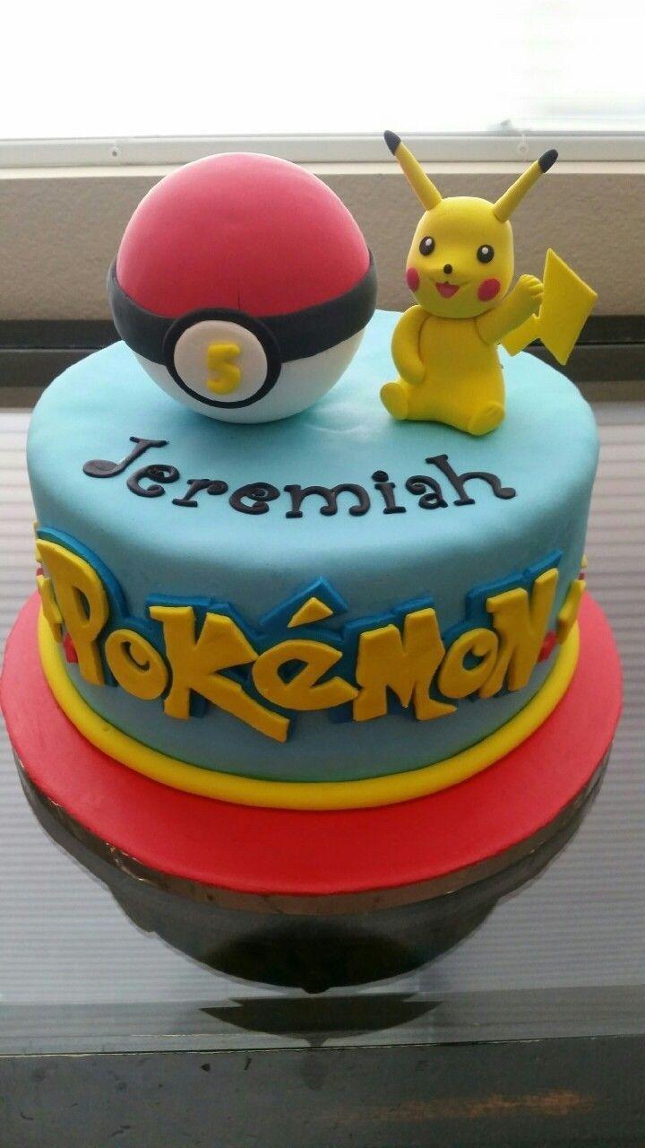 Remarkable Pokemon Birthday Cakes Pokemon Cake Fondant Cakes Pinterest Personalised Birthday Cards Bromeletsinfo