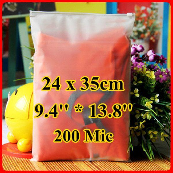Free Shipping 50pcs/lot 24cm*35cm*200mic Frosted Plastic Bag, Christmas Garment Pouch, Plastic Zip Bag, Resealable Plastic Bag #Affiliate