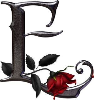 abecedario metal negro rosas, png ,rosavecina.net ~ rosavecina.net