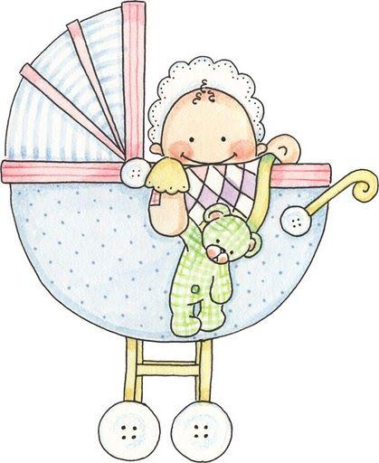Imágenes de bebes para imprimir; Imagen de bebe en carrito