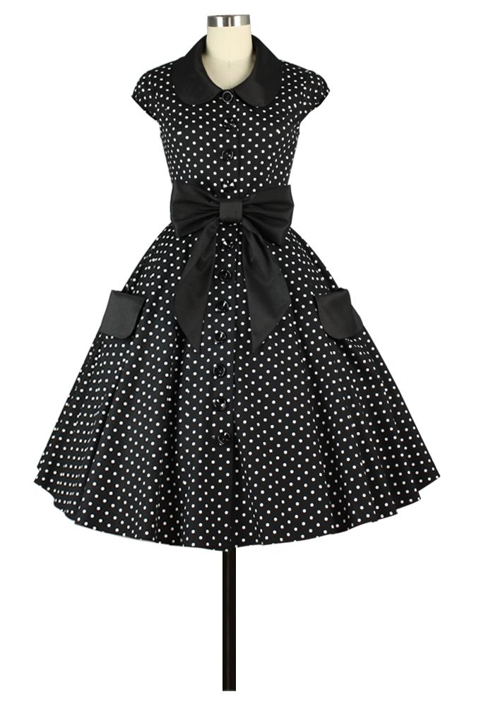 Retro Polkadot  Lucy Dress Chic Star Design by Amber Middaugh