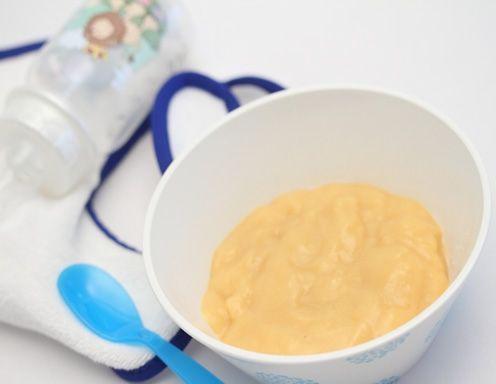 Babynahrung selbstgemacht - Milchreis mit Pfirsich Rezept