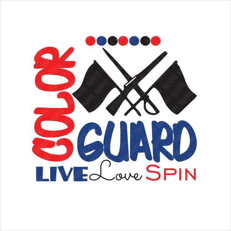 Color Guard Shirt - Live Love Spin - Custom - You Pick Colors - Spirit Band T-Shirt by SpiritStadium on Etsy