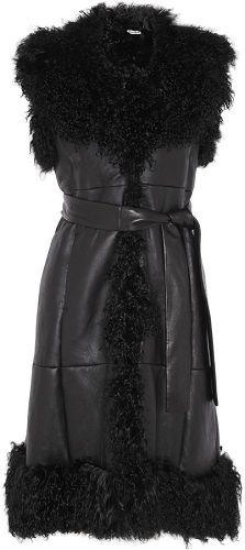 MIU-MIU-sleevless-short-shearling-sheepskin-coat