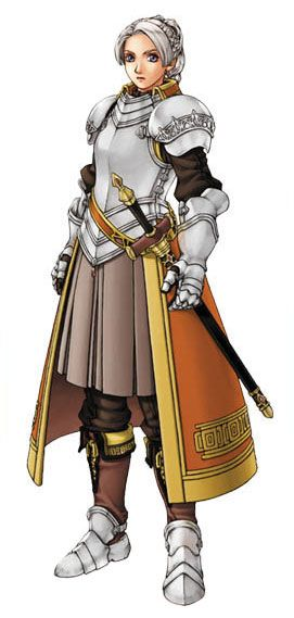 Suikoden III - Chris Lightfellow. I know, a heroine in a fantasy setting in full armor. Try not to be too shocked.