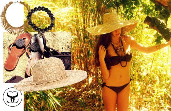 Bamboo brown Bandeau Bikini from www.scarlettswimwear.co.za