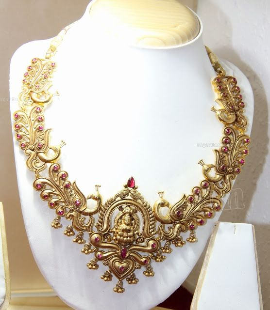 Antique Traditional Haram - Indian Jewellery Designs South Jewellery
