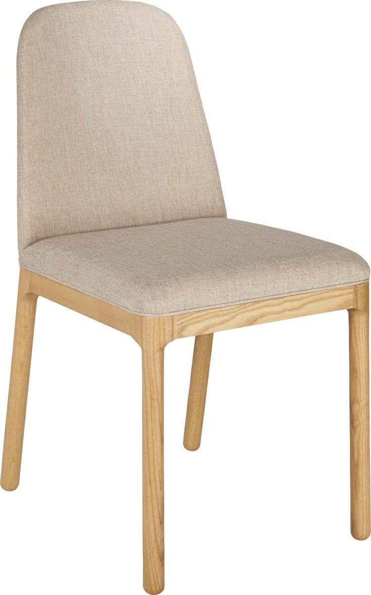 Bet spisestol i heltre eik med polstret sete og rygg. Dimensjoner: W41 x D43 x SH 47cm. Kr. 1915,-