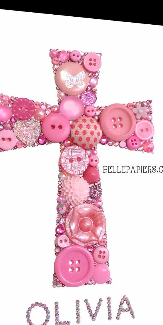 Customized Button Art Canvas Cross  If youre pleased with the photos of my work, youre not going to believe your eyes when you see your piece in