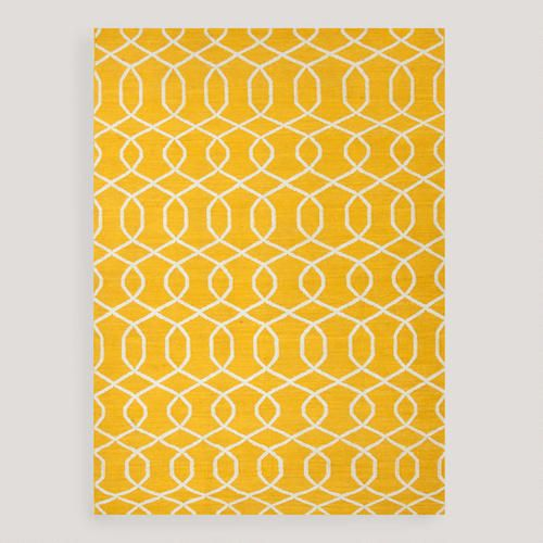 World Market - Yellow Bahari Flat-Woven Wool Rug
