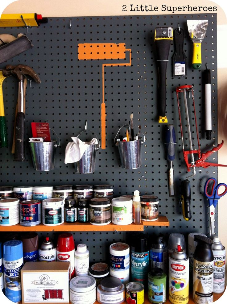 27 best images about garage organization pegboard ideas on - Supplies needed to paint a room ...