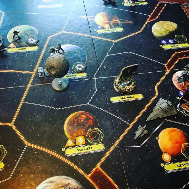 "#regram via @meeplemom . . . ""Star Wars Rebellion by @fantasyflightgames  #boardgames #boardgame #boardgamegeek #gamenight #gaming #games #starwars"""