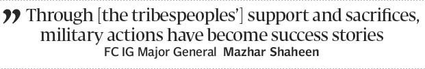 Reiterating commitment: Frontier Corps IG visits Kalaya headquarters - The Express Tribune