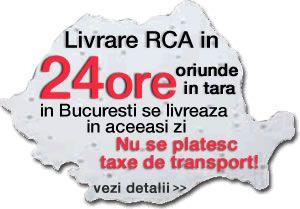 Livrare GRATUITA pentru toate asigurarile rca ieftine comandate online! - http://www.rcalatineacasa.ro/