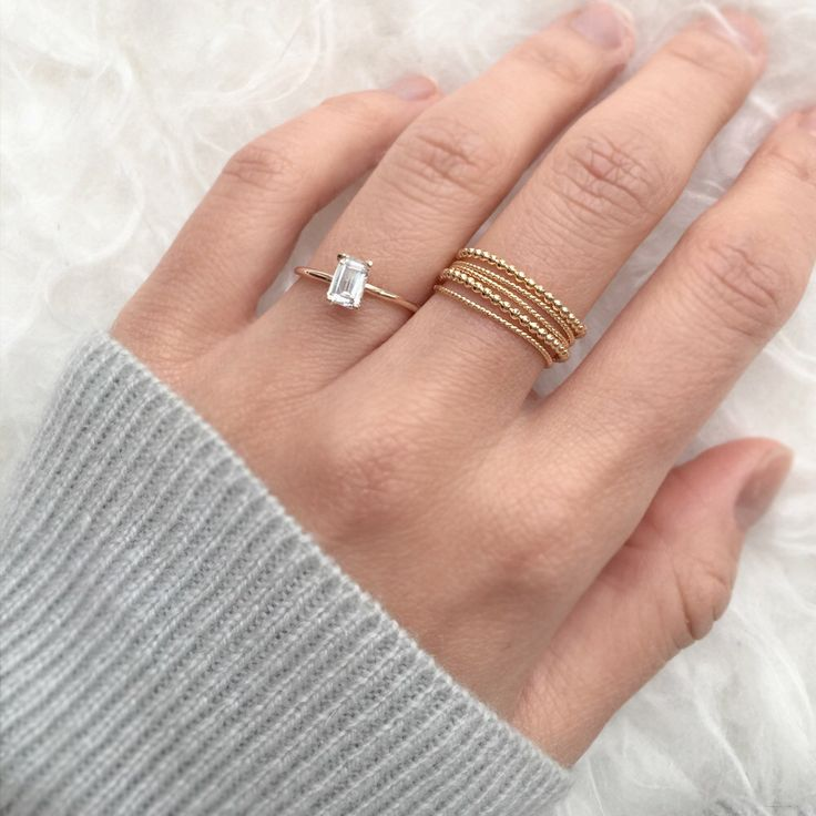 Engagement Ring, White Sapphire Ring, 14K ring, Unique engagement ring, Diamond alternative ring, Solid gold ring,jewelry, wedding ring by JamieParkJewelry on Etsy https://www.etsy.com/listing/485077517/engagement-ring-white-sapphire-ring-14k