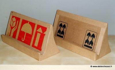 DIY Support tablette numérique en carton - Tutoriel gratuit offert par l'Atelier Chez Soi