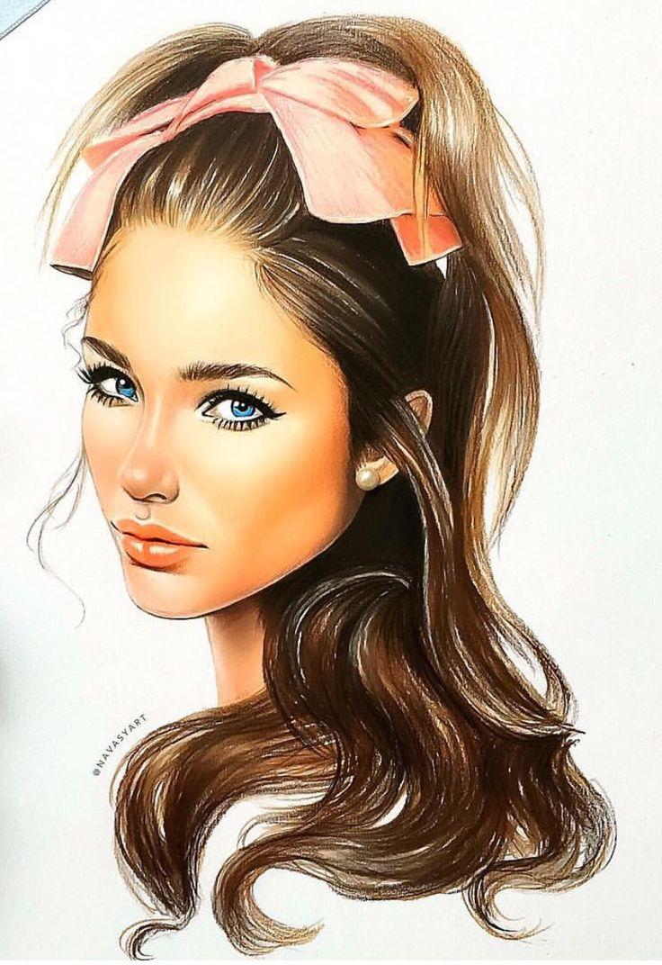 Картинки девчонка нарисованная