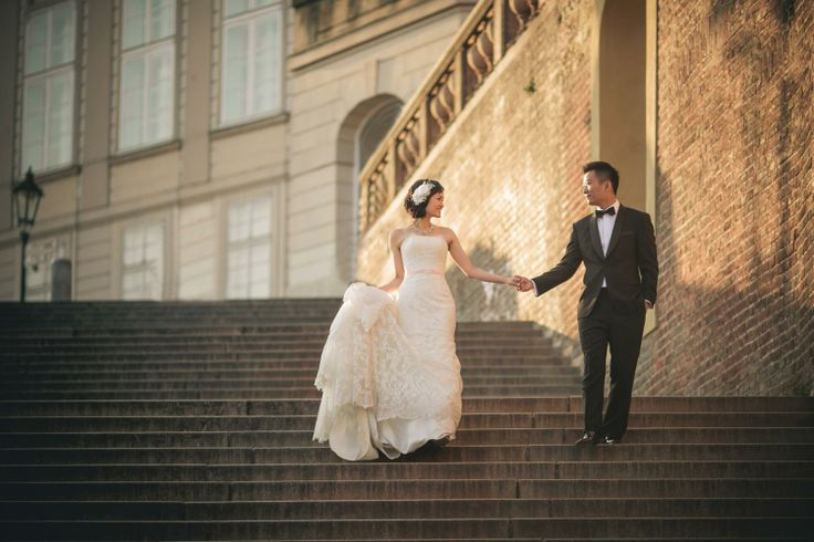 Suki & Steven's beautiful pre wedding portraits at Prague Castle by American Photographer Kurt Vinion