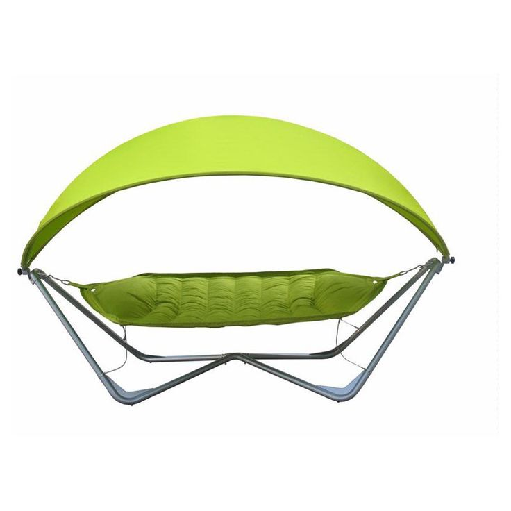 Bliss Hammocks Deluxe Gondola Single Hammock with Canopy Green - BGH-336GR