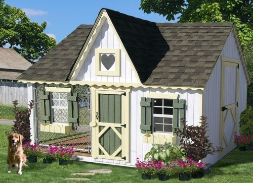 Beautiful Dog House with Side Kennel