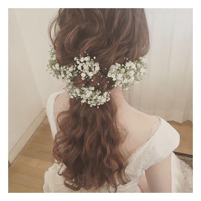 * * 今日の花嫁さまは 美容師♡ * * 好きなカンジが 似ていてうれしい♡ * * * #ヘアアレンジ #ウェディング #コーデ #マリhair