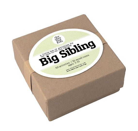 Activities for the Soon-to-Be Big Sibling  Is there a soon-to-be Big Sibling in your house? Are you expecting and would like to get your child involved in the excitement that a new baby brings?  The Big Sibling Box was made specifically for this purpose!  Your soon-to-be big sibling