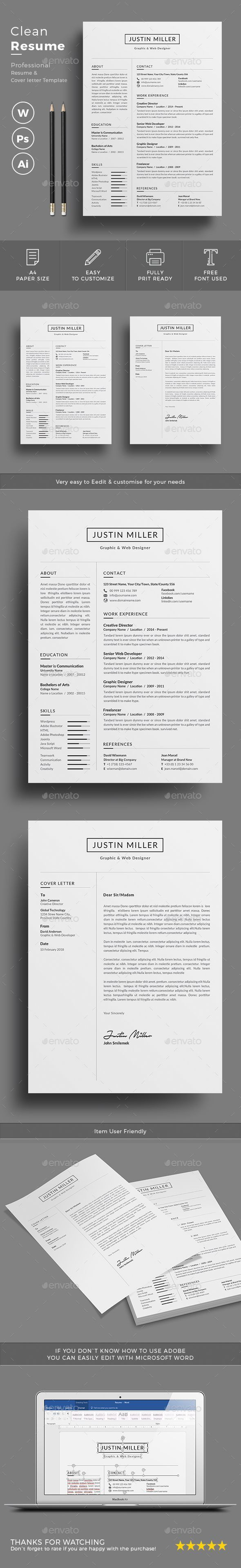 medical billing resumes%0A  Resume  Resumes Stationery Download here  https   graphicriver net